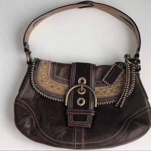 Coach Brown Leather Boho Western Purse Handbag